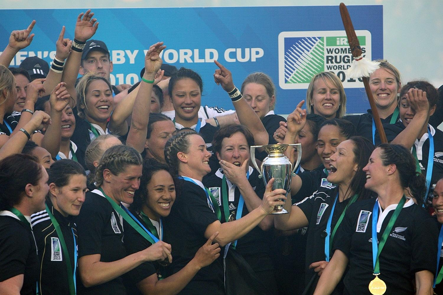 WRWC 2010: New Zealand celebrate their victory over England
