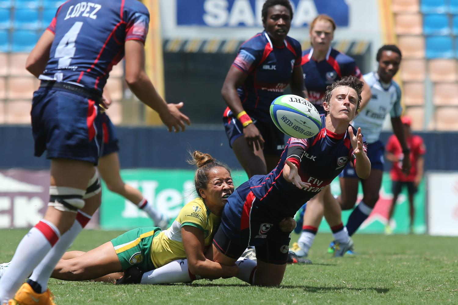 USA and Brazil on day two at Brazil 7s