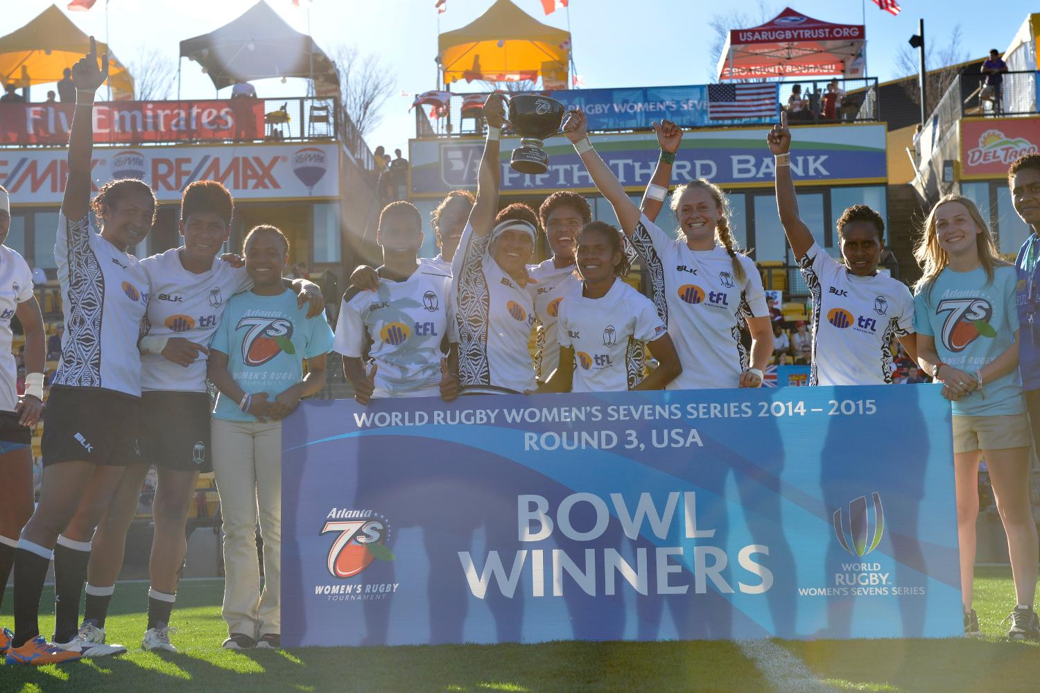 Fiji win the Bowl at the Atlanta 7's