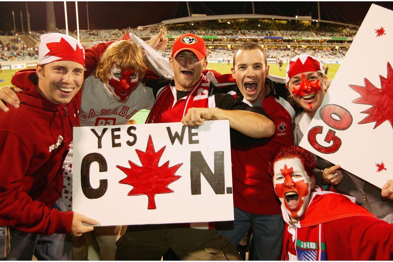 Canada fans at RWC 2003.