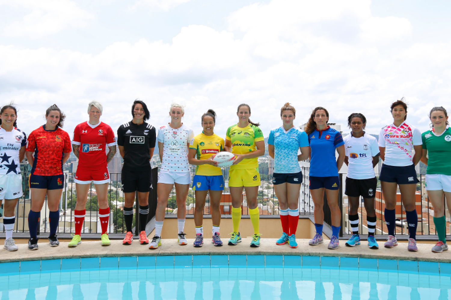 Women's Sevens Series captains - Sao Paulo
