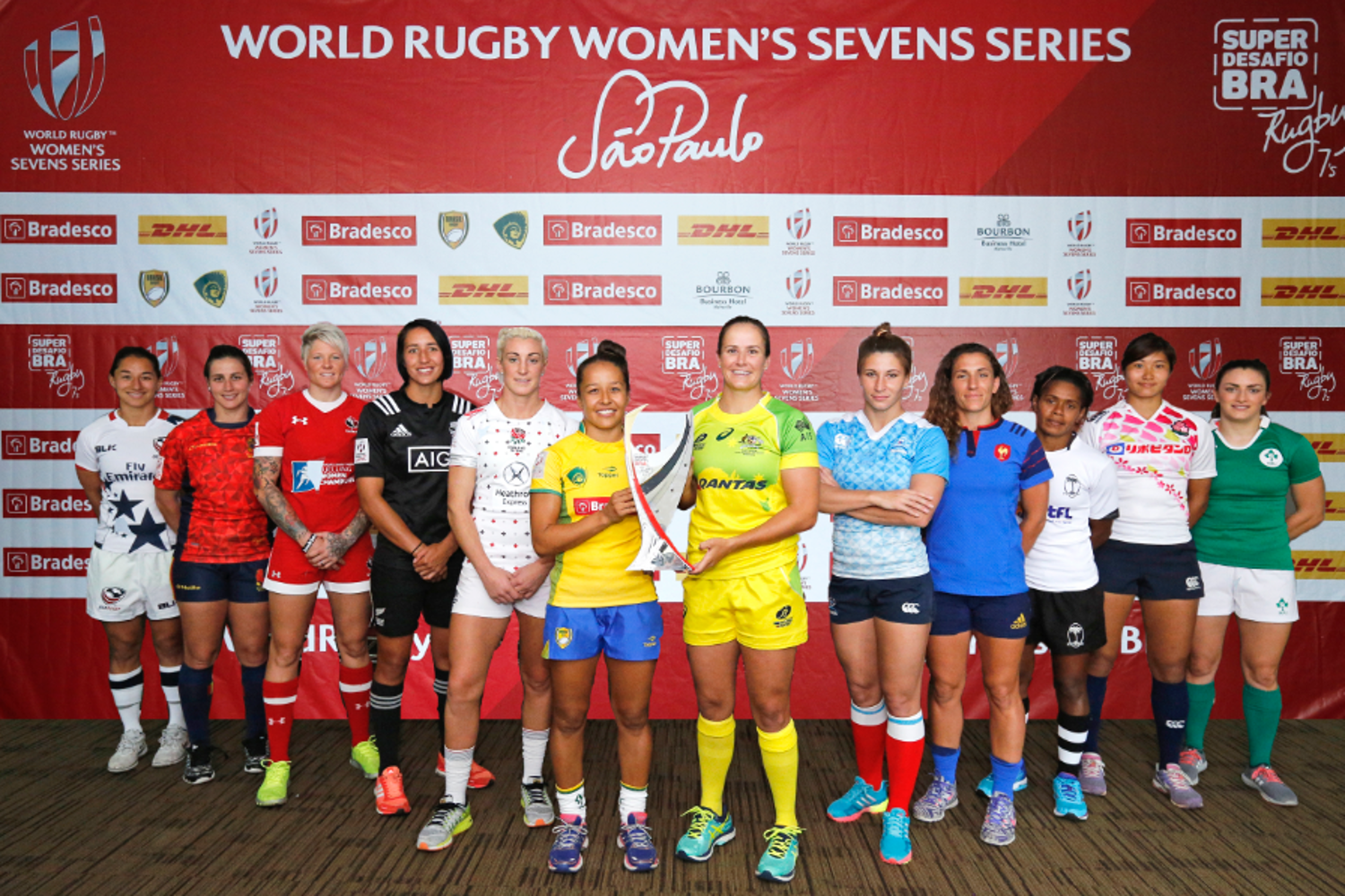Women's Sevens Series captains- Sao Paulo
