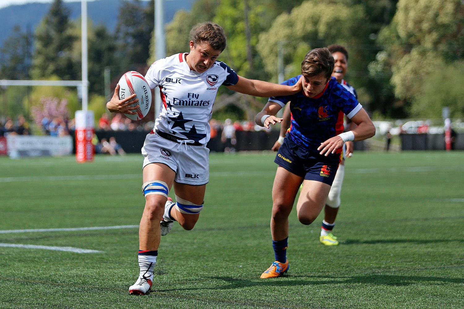 USA in action against Spain.