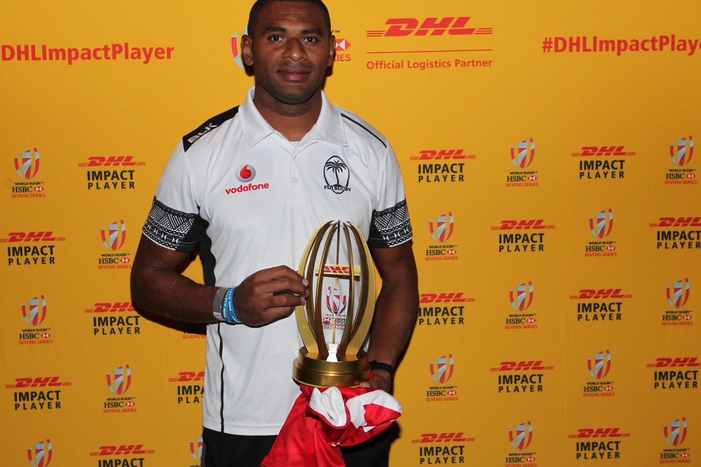 Fiji's Jasa Veremalua wins the DHL Impact Player award