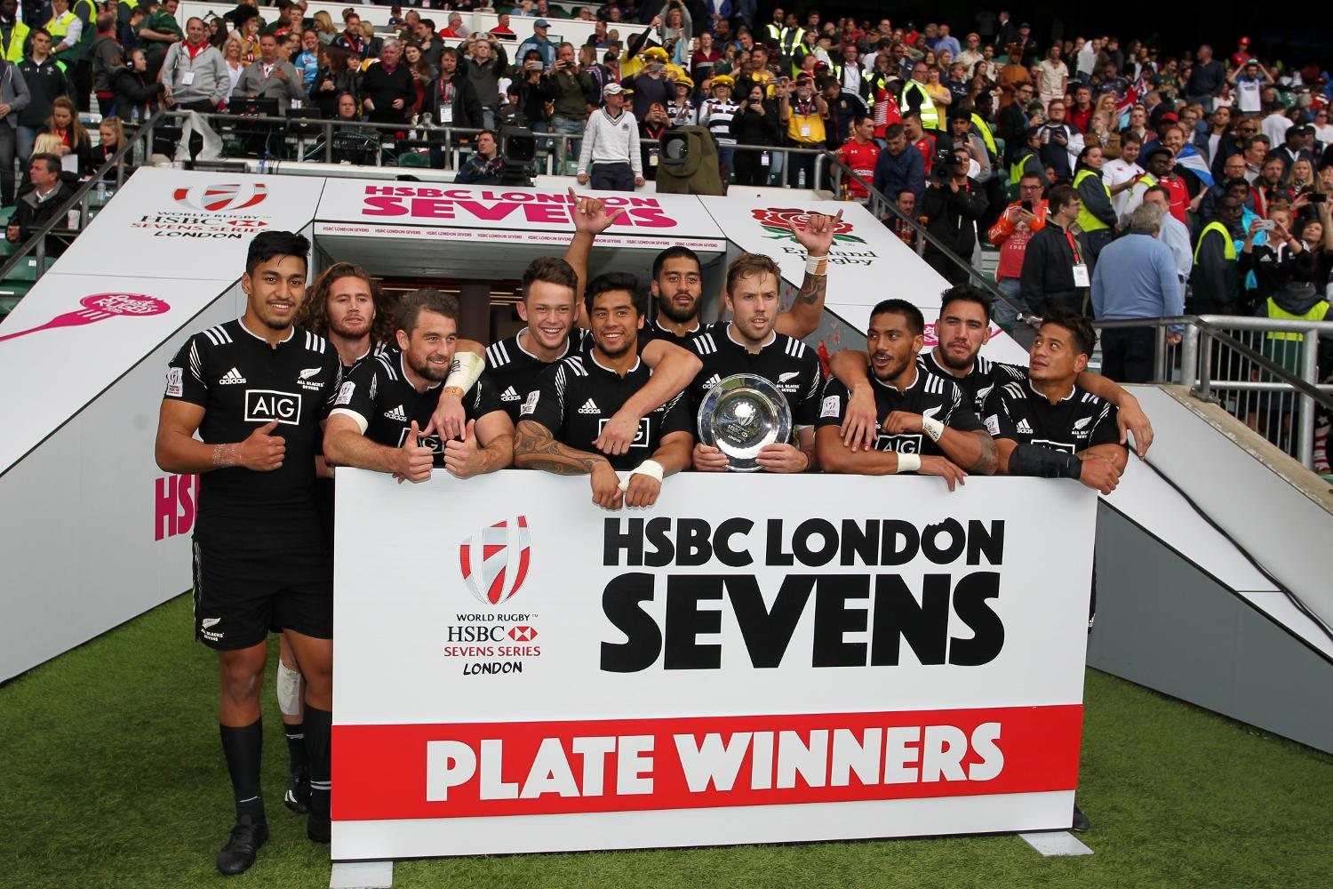 New Zealand win the Plate at the HSBC London Sevens