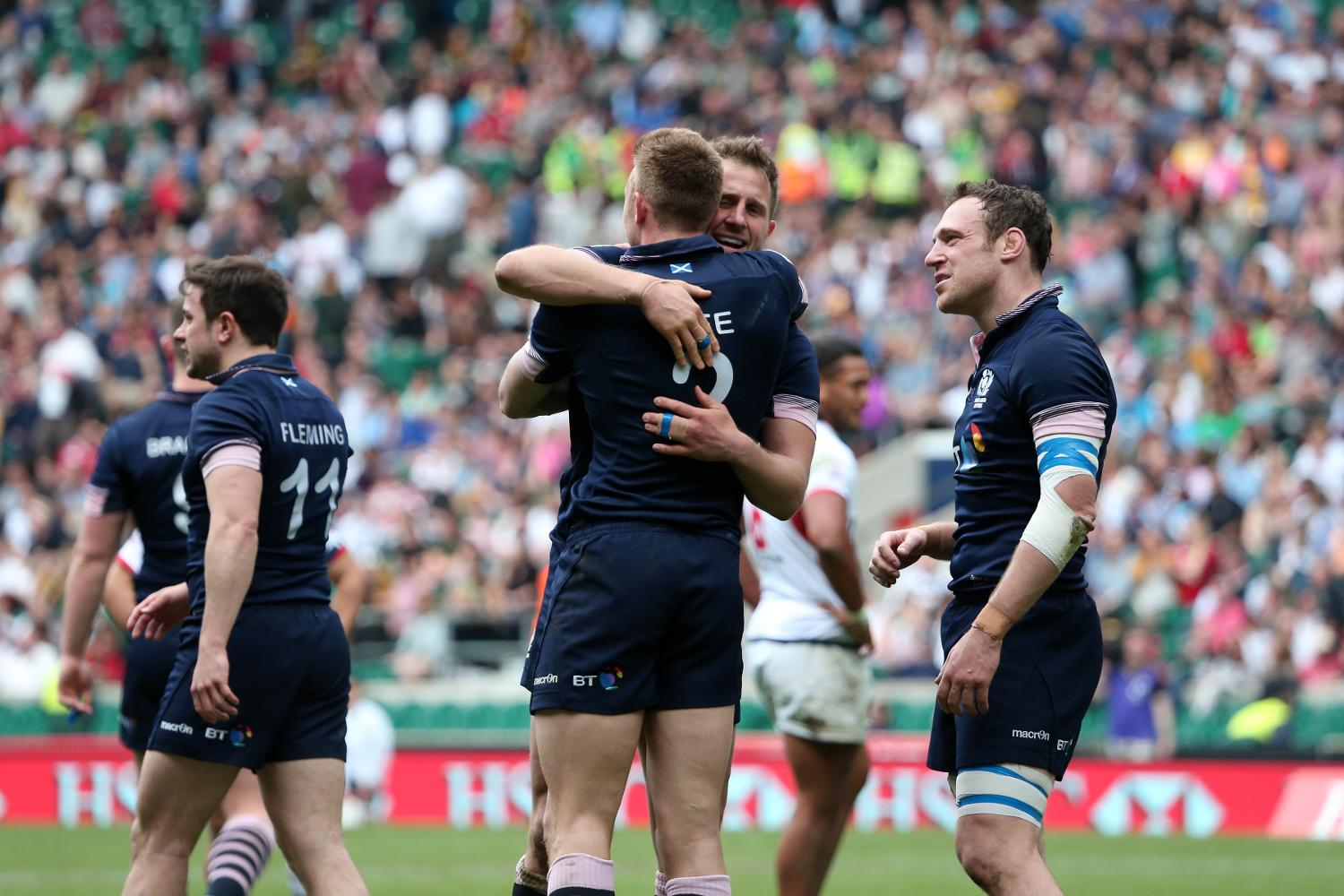 Scotland celebrate getting into their first Cup final