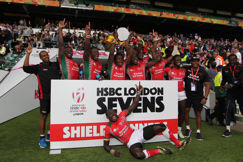 Kenya win the Shield at the HSBC London Sevens