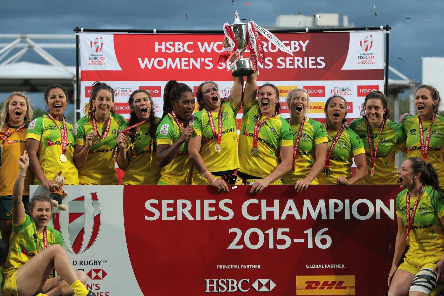 Australia Womens sevens team Series Winners
