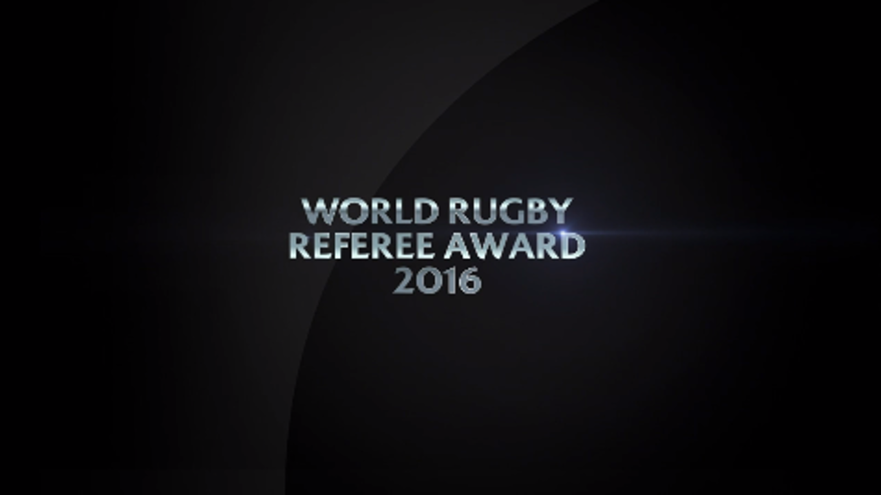World Rugby Referee Award 2016 nominees