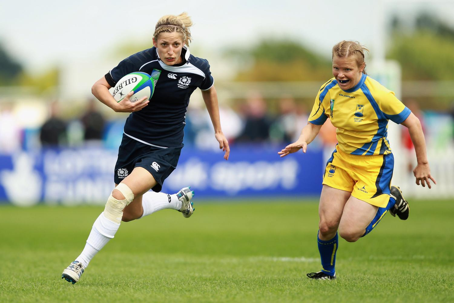 WRWC 2010: Katy Green of Scotland in action against Sweden