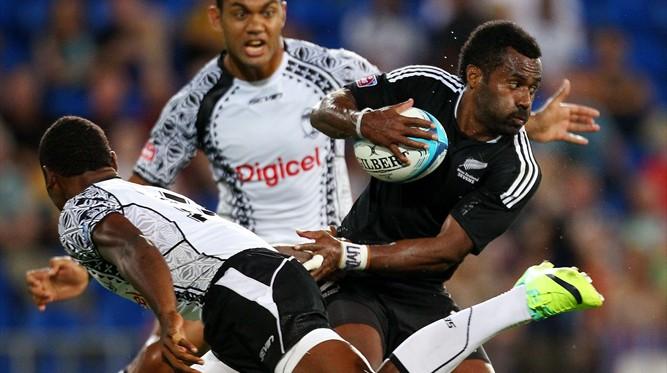 Tomasi Cama takes on Fiji