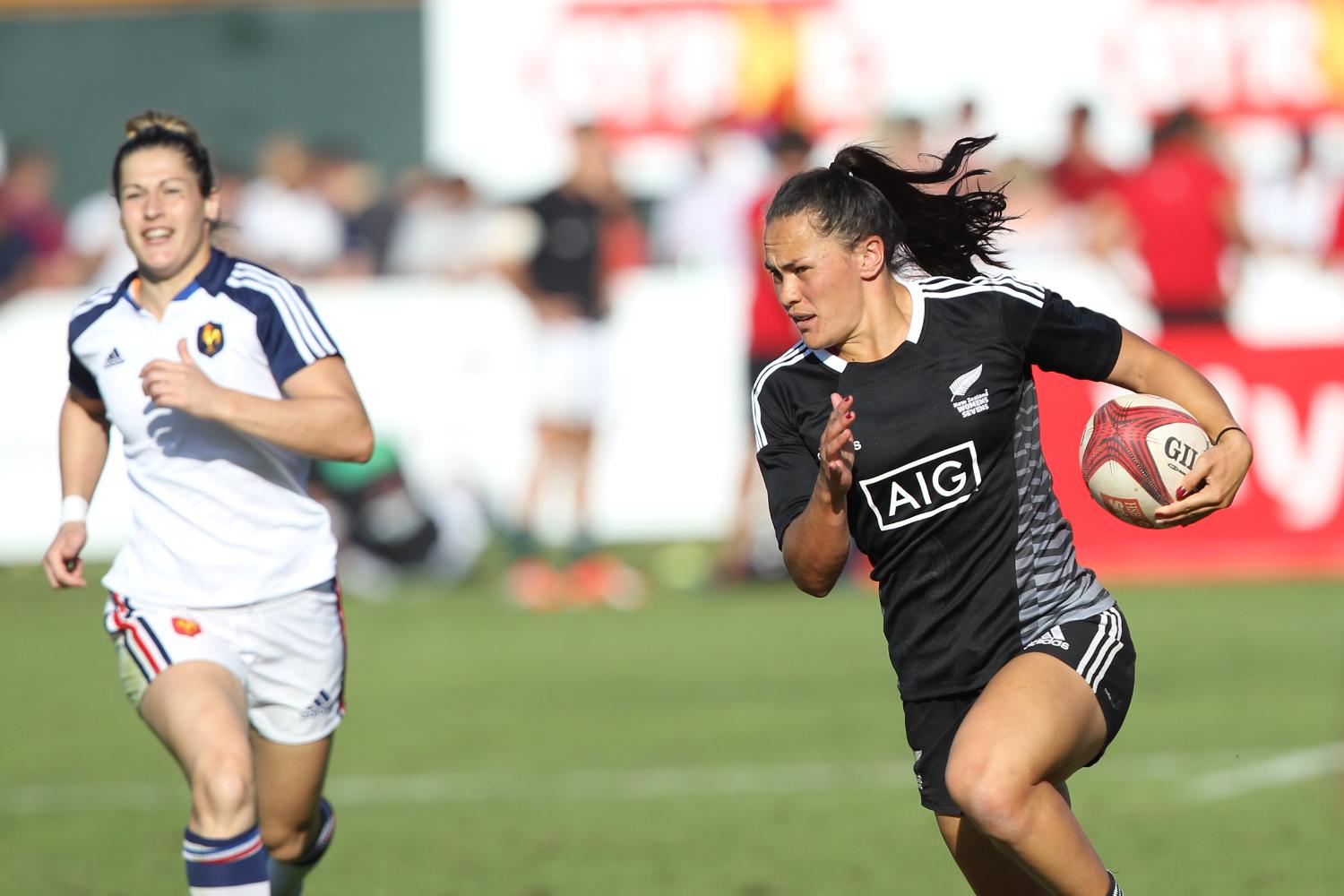 Portia Woodman on the attack for NZ