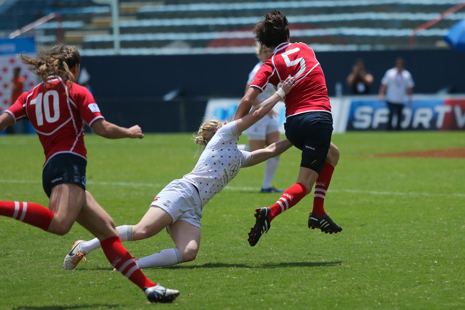 Russia and England on day two at Brazil 7s