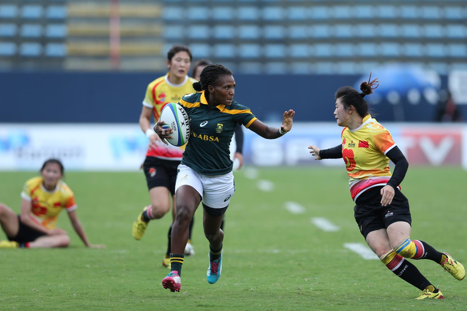 China and South Africa on day two at Brazil 7s