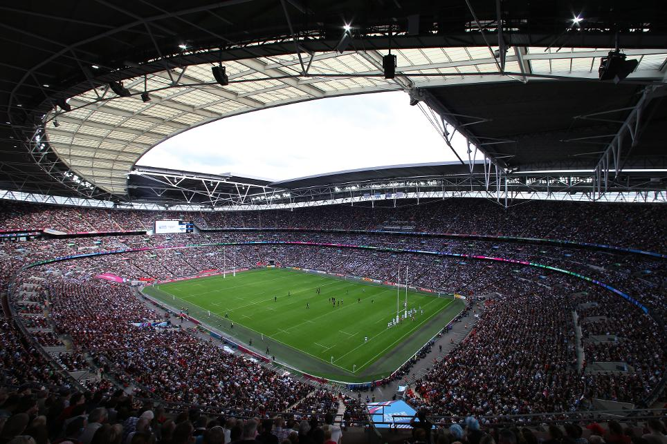 record rugby world cup attendance at wembley stadium