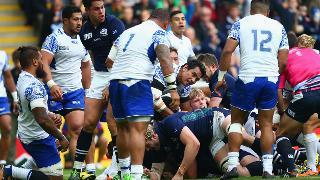 Samoa v Scotland - John Hardie try