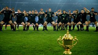 New Zealand haka after RWC 2015 final