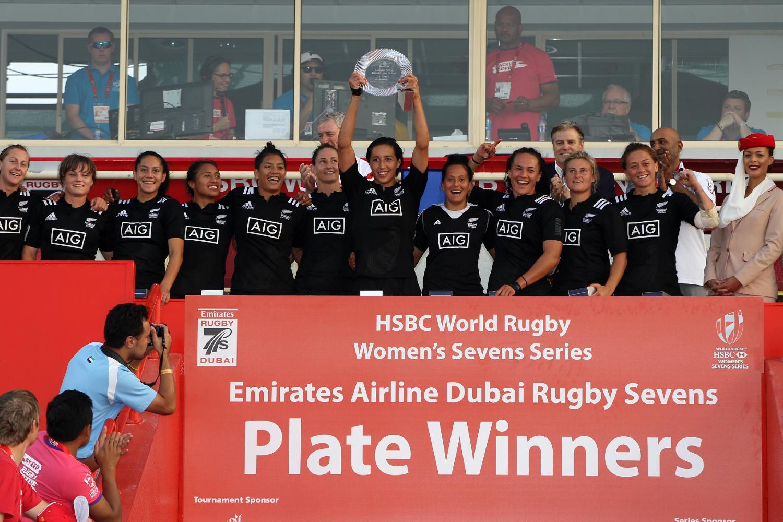 New Zealand Women's 7s Team win the Plate final