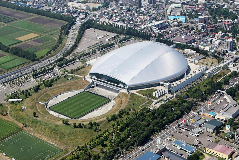 Image result for estadio sapporo dome de japon