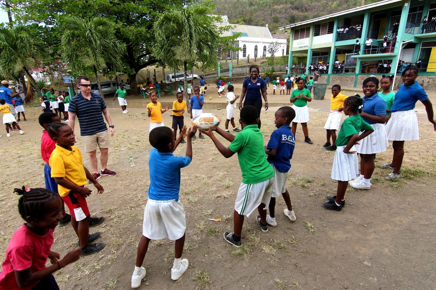 Owens helps to grow the game in the Caribbean