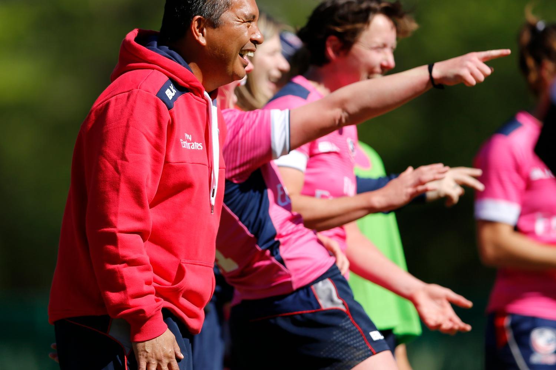 USA women's sevens coach Richie Walker