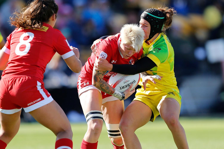 Jen Kish maintains possession