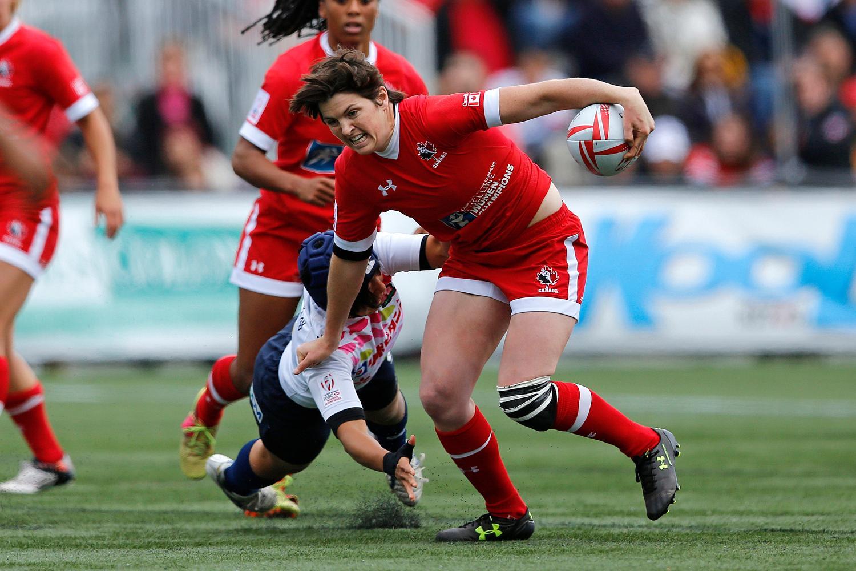 Britt Benn attacks for Canada.