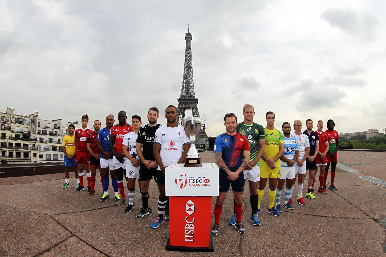 The captains line up at the Paris 7s