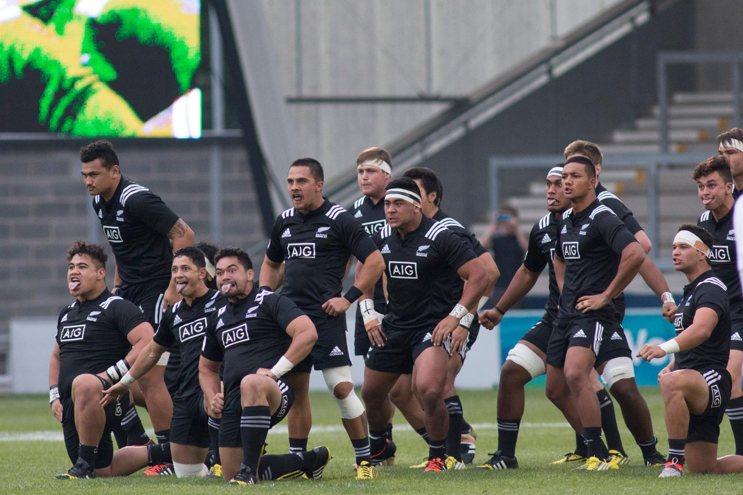 New Zealand Perform The Haka Ahead Of Their Opening Match At The World Rugby U20 Championship 2016 Against Georgia At The Aj Bell Stadium On 7 June 2016 Avec Images Rugby