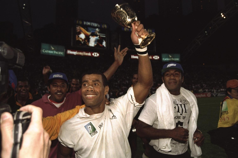 RWC Sevens 1997 - Fiji trophy lift