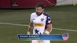 Try, Danny Barrett, USA v Chile