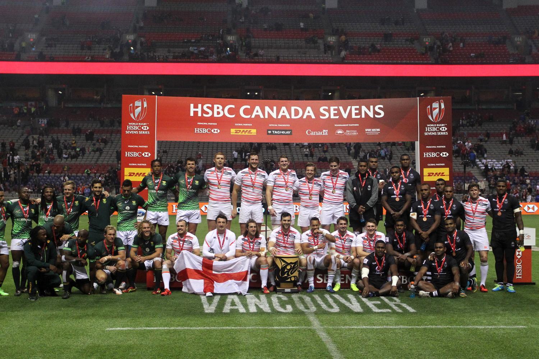 HSBC Canada Sevens - Trophy presentation