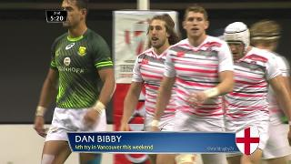 Try, Dan Bibby, South Africa v ENGLAND