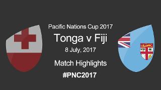 Tonga v Fiji match slate
