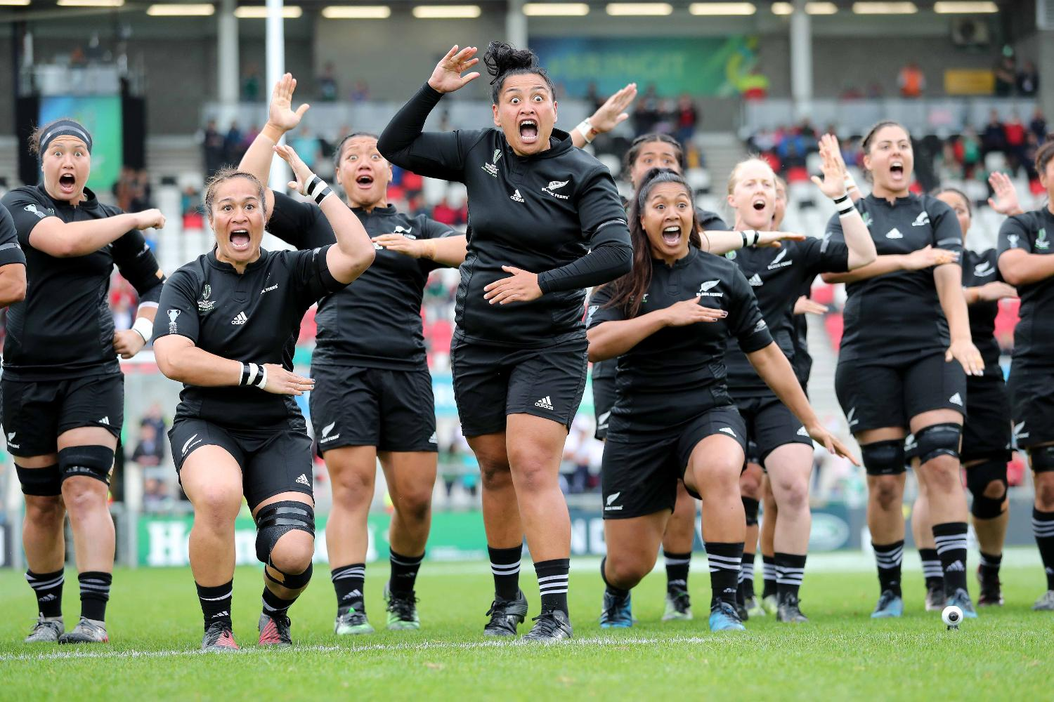 WRWC 2017: The New Zealand team perform the Haka