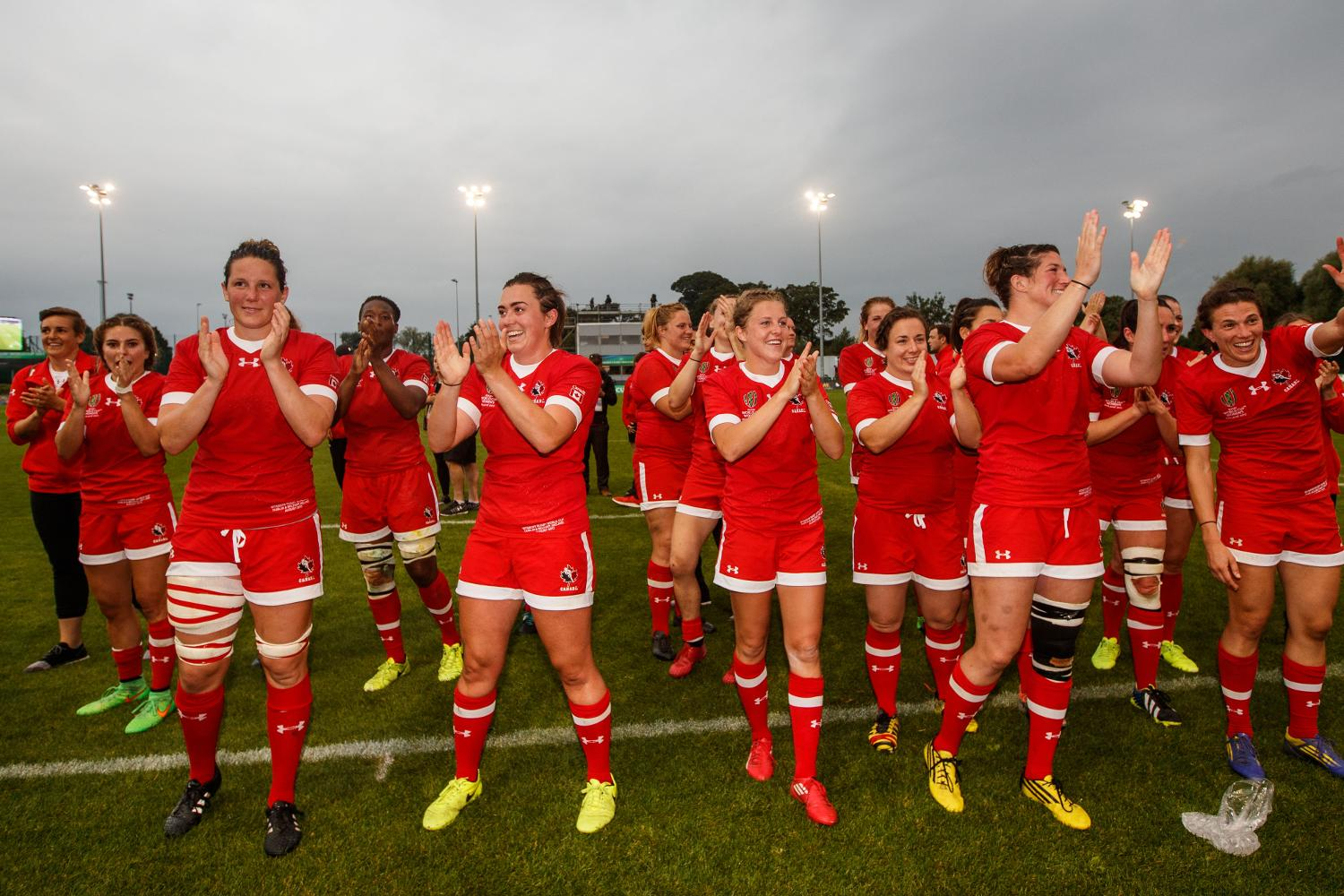 WRWC 2017: Canada players celebrate winning 22/8/2017
