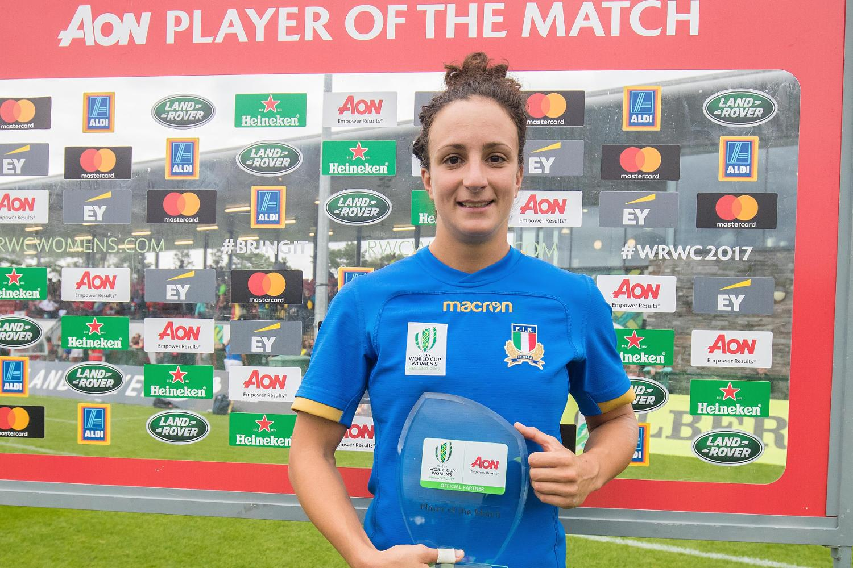 WRWC17 Michela Sillari joueuse du match contre l'Espagne 26/8/2017
