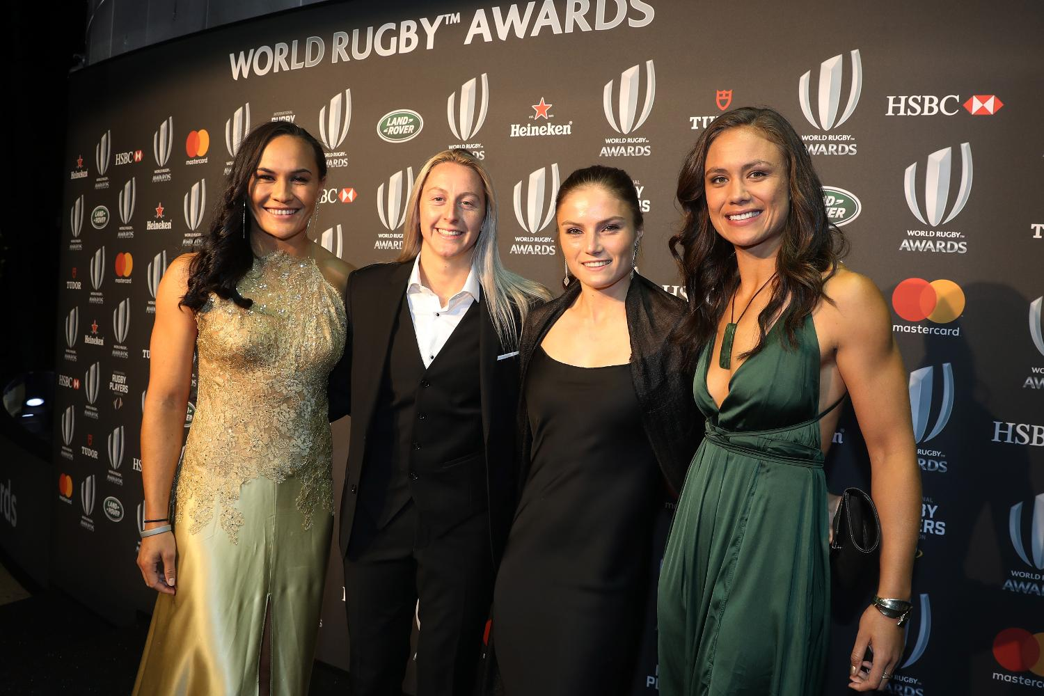 Black Ferns attend the World Rugby Awards 2017