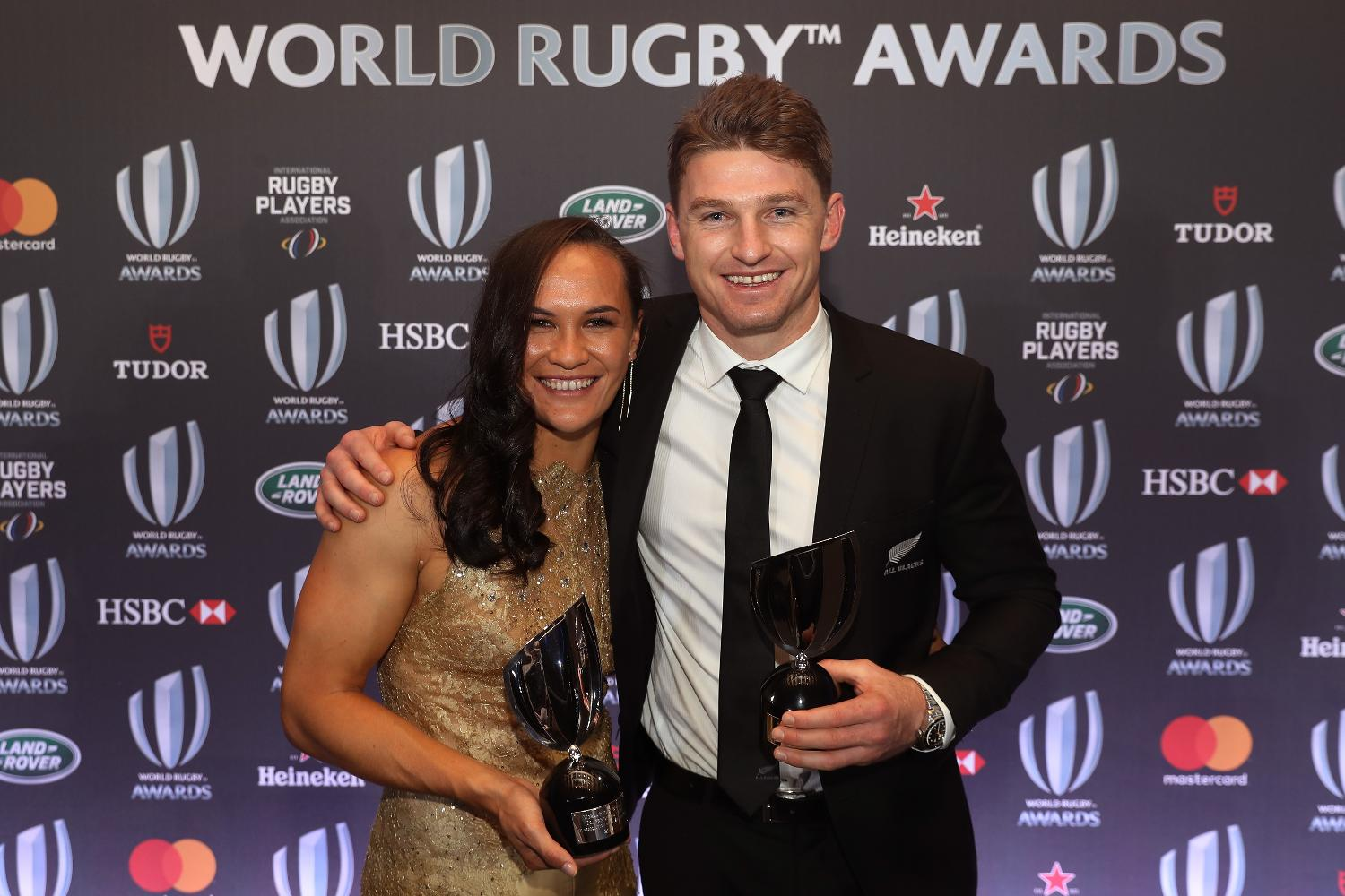 World Rugby Players of the Year Award in association with Mastercard:  Portia Woodman and Beauden Barrett, New Zealand