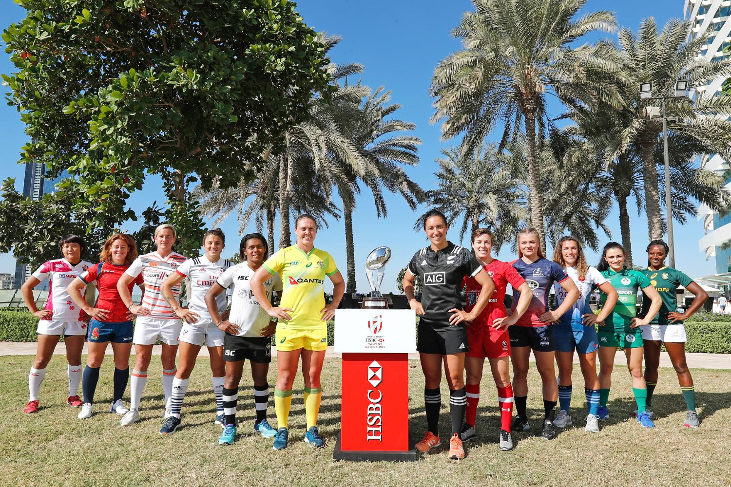 Emirates Airline Dubai Rugby Sevens Captain's Photo-  Women's