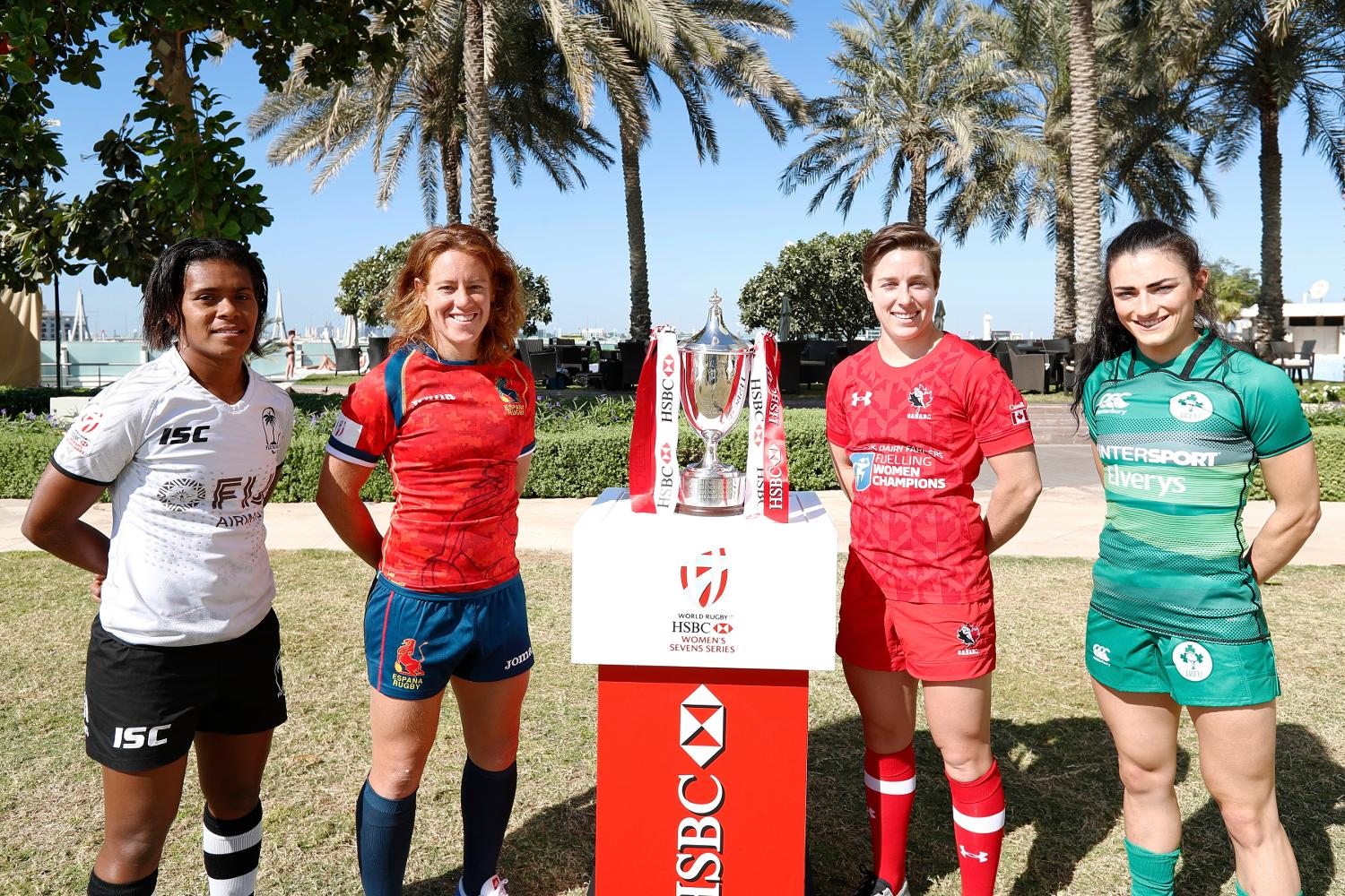 Emirates Airline Dubai Rugby Sevens Captain's Photo- Women's Pool C