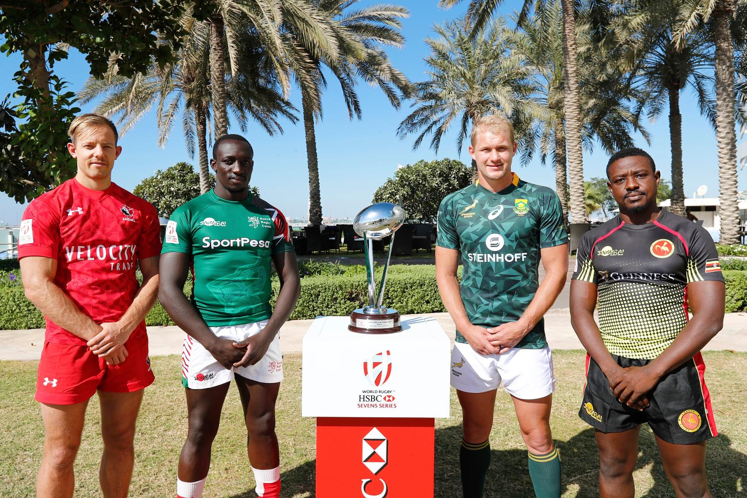 Emirates Airline Dubai Rugby Sevens Captain's Photo- Men's Pool A