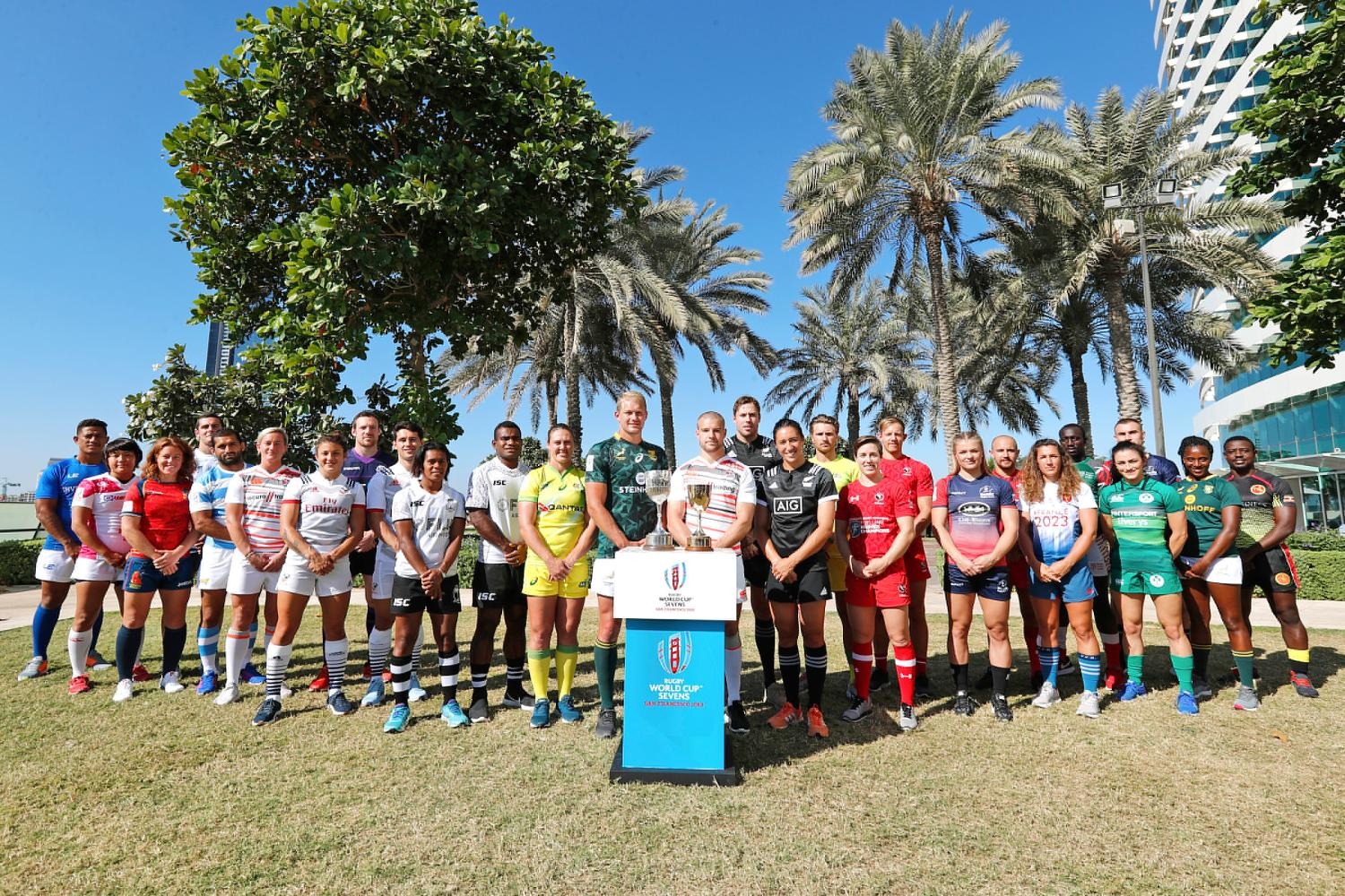 Rugby World Cup Sevens 2018 - Women's and Men's qualified teams in Dubai
