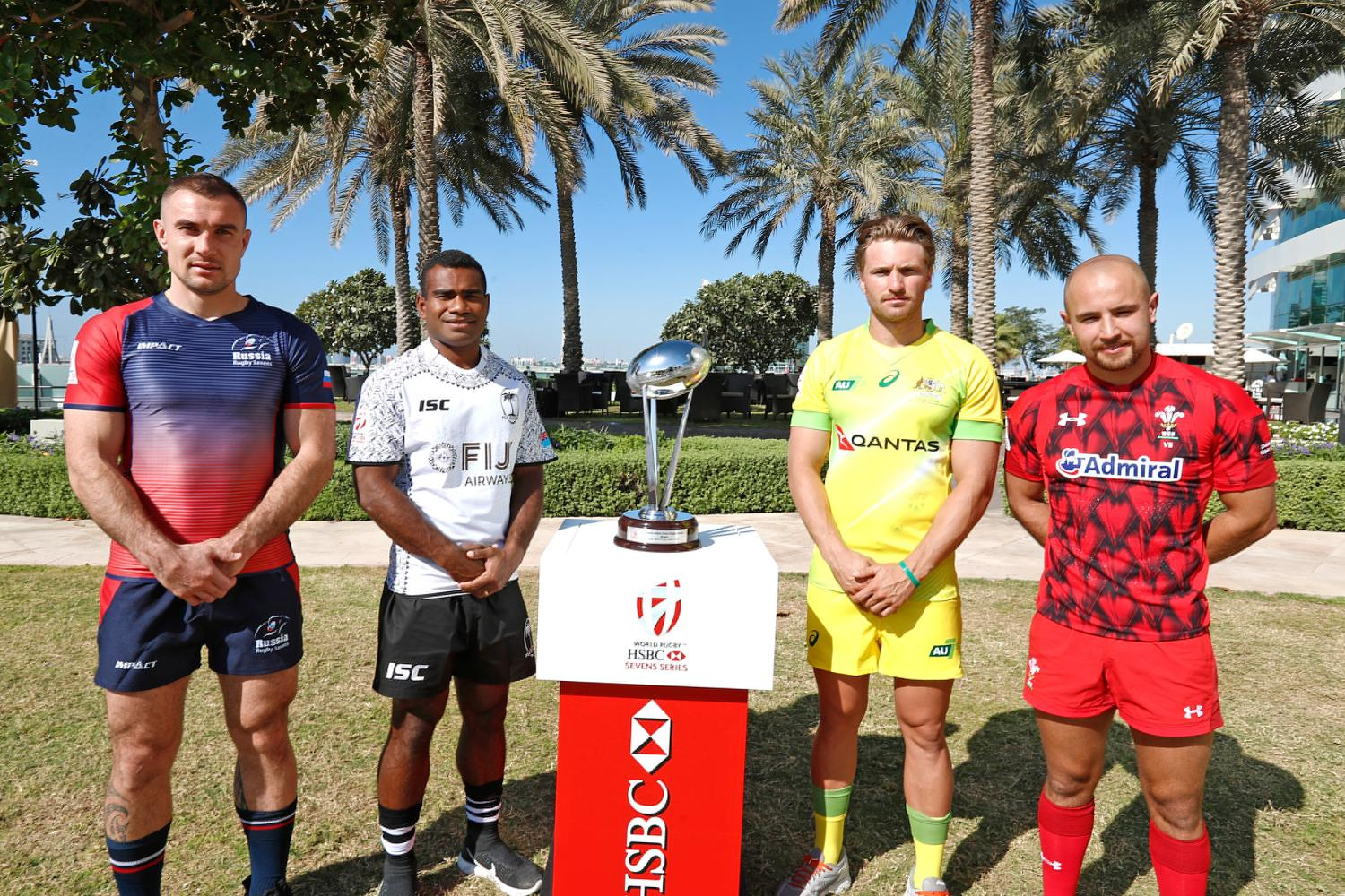 Emirates Airline Dubai Rugby Sevens Captain's Photo- Men's Pool C