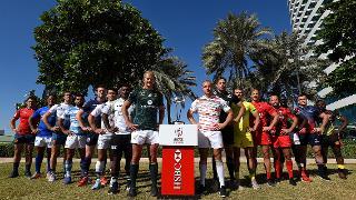 Emirates Airline Dubai Rugby Sevens Captain's Photo- Men's