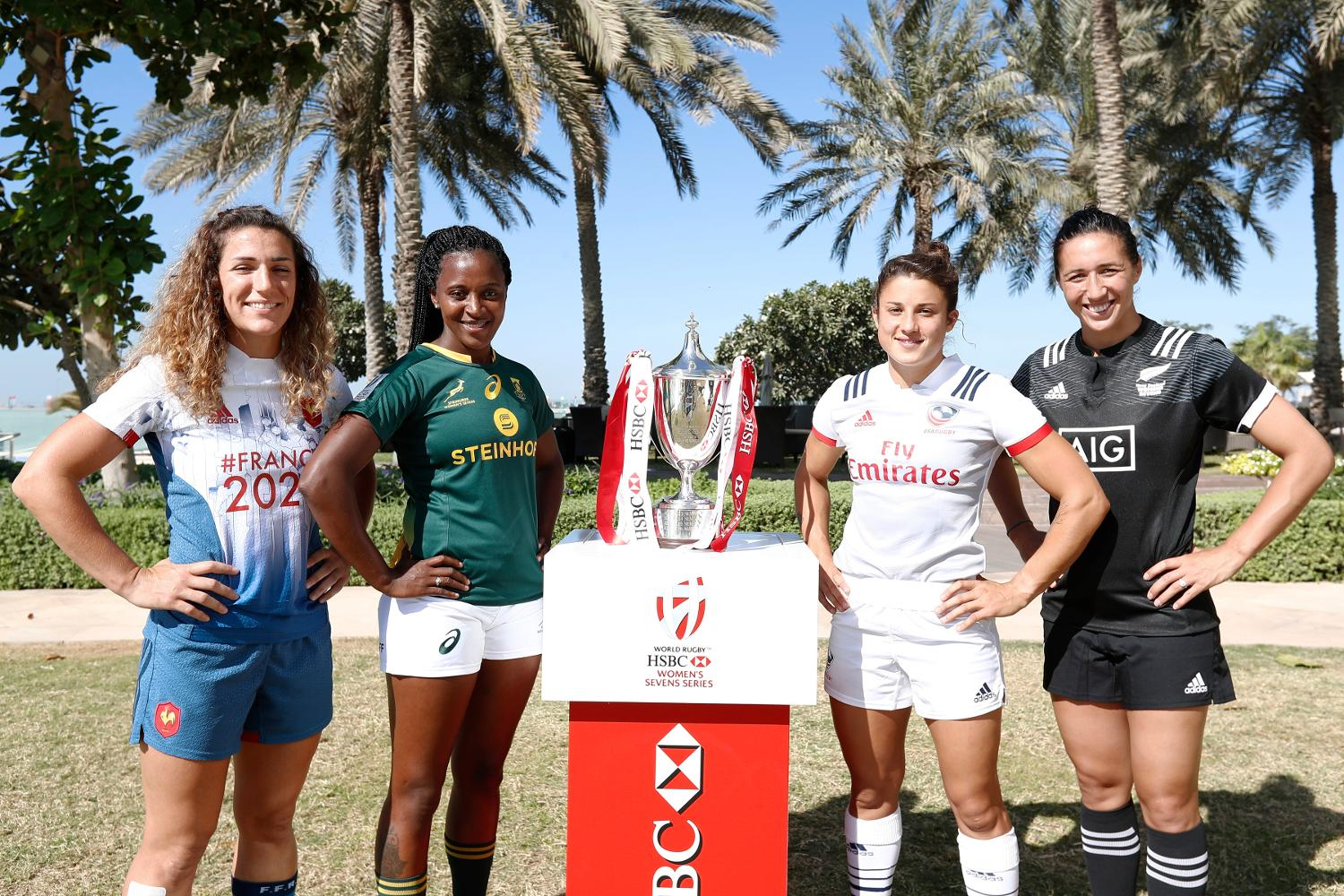 Emirates Airline Dubai Rugby Sevens Captain's Photo- Women's Pool A