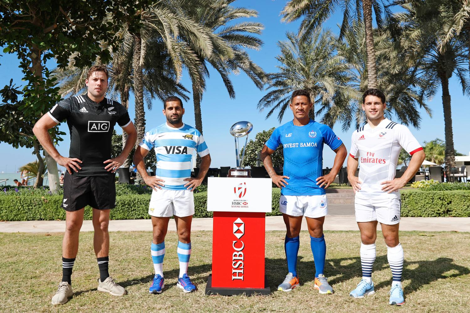 Emirates Airline Dubai Rugby Sevens Captain's Photo- Men's Pool D