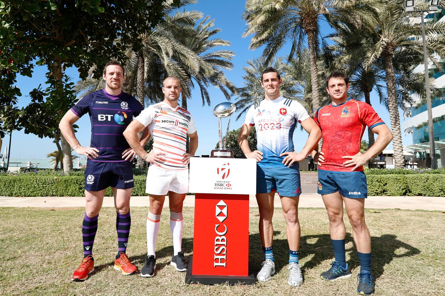 Emirates Airline Dubai Rugby Sevens Captain's Photo- Men's Pool B