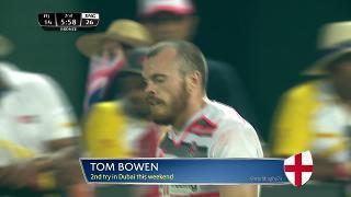 Try, TOM BOWEN, Fiji v ENGLAND