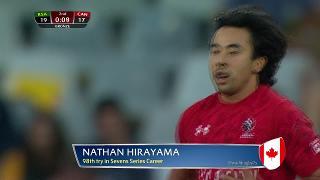 Try, NATHAN HIRAYAMA, South Africa v CANADA